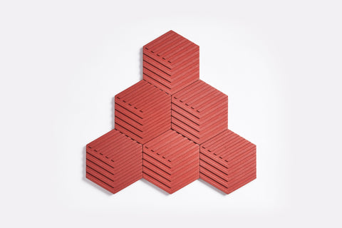 Concrete Table Tiles in Brick Red design by Areaware
