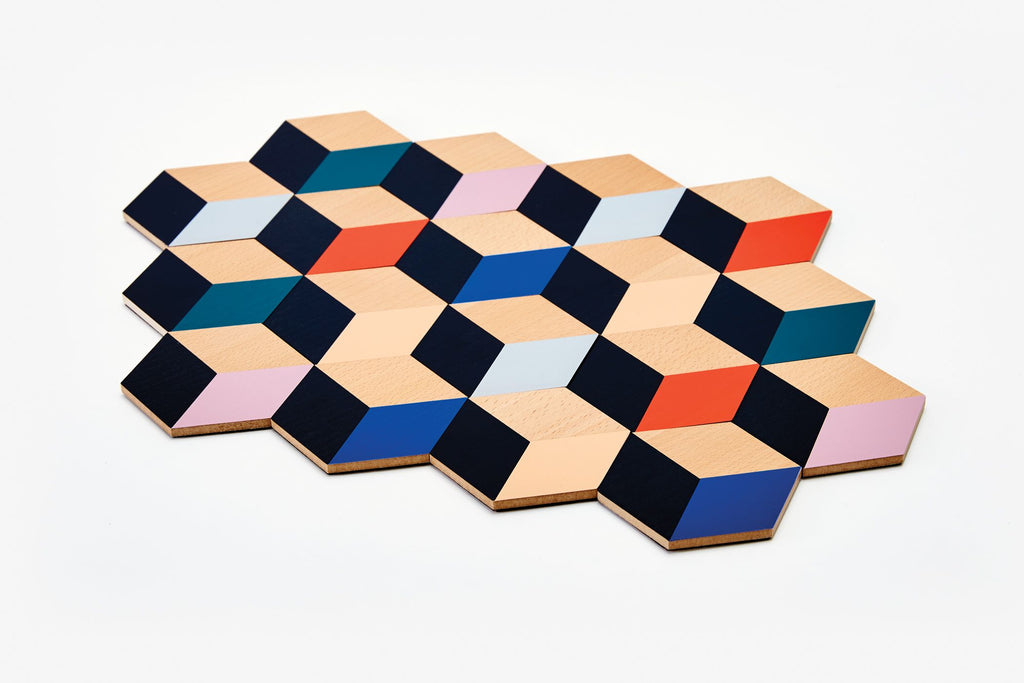 Table Tiles in Modern Multi design by Areaware