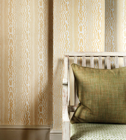 Tagus Wallpaper in Yellow and Ivory by Nina Campbell for Osborne & Little