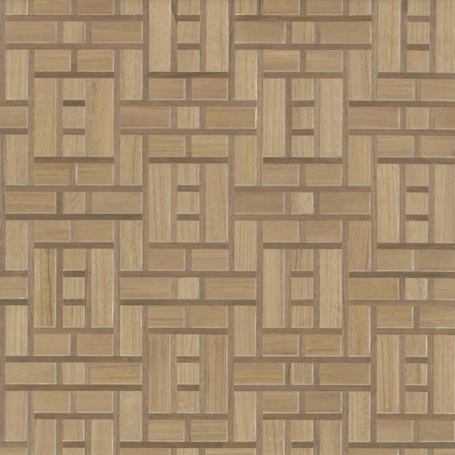 Teahouse Panel Wallpaper in Brown from the Tea Garden Collection by Ronald Redding for York Wallcoverings