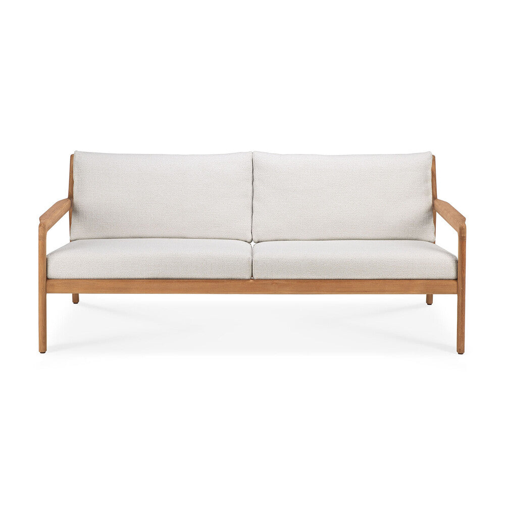 Teak Jack Outdoor Sofa in Off-White
