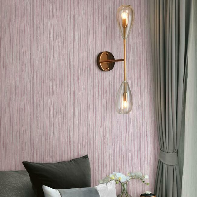 Temperate Veil Wallpaper in Berry by Antonina Vella for York Wallcoverings