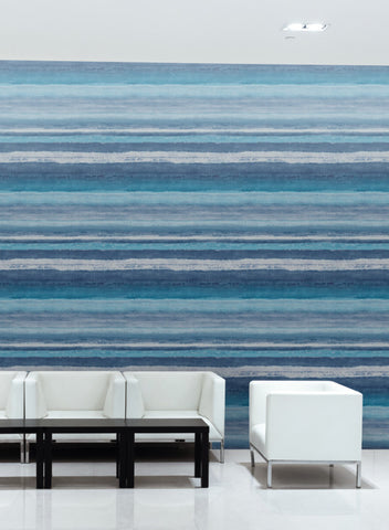 Tempra Wallpaper in Blue from the Design Digest Collection by York Wallcoverings