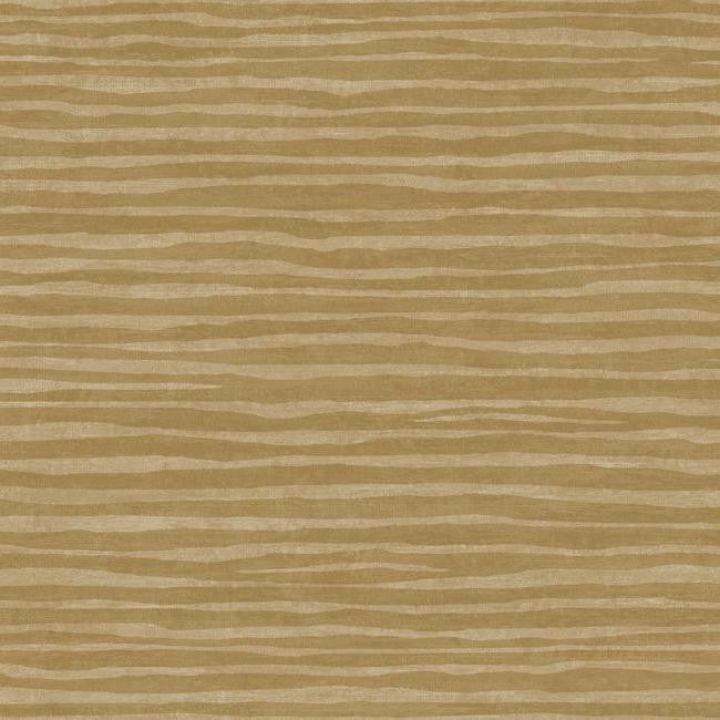Sample Terra Nova Horizontal Texture Wallpaper in Sand and Gold by York Wallcoverings