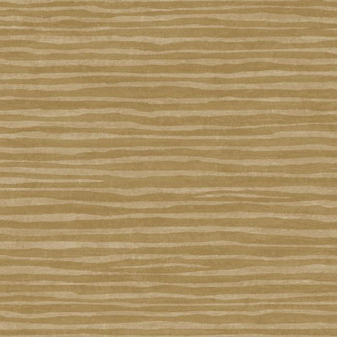 Terra Nova Horizontal Texture Wallpaper in Sand and Gold by York Wallcoverings