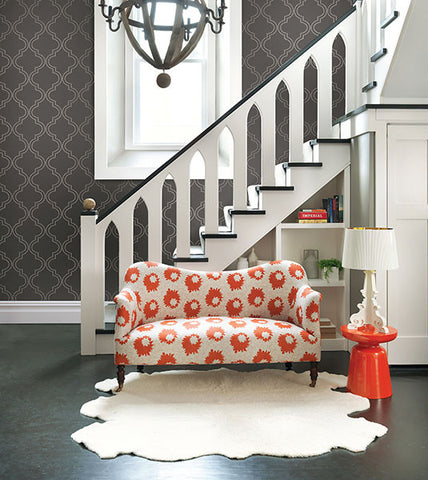 Tetra Quatrefoil Wallpaper from the Symetrie Collection by Brewster Home Fashions