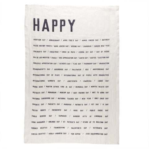 Happy Tea Towel
