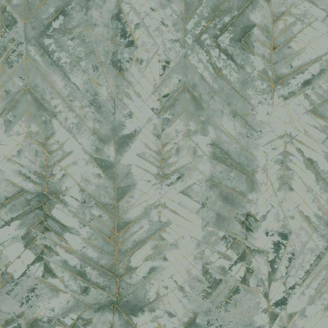 Sample Textural Impremere Wallpaper in Green from the Impressionist Collection by York Wallcoverings