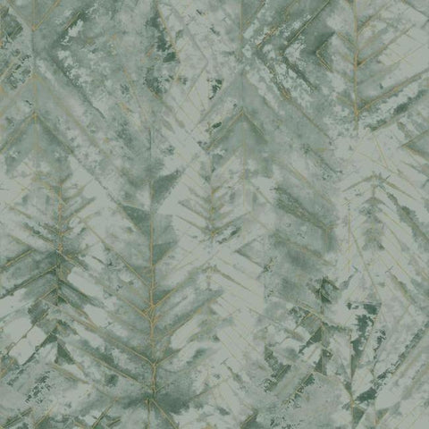 Textural Impremere Wallpaper in Green from the Impressionist Collection by York Wallcoverings
