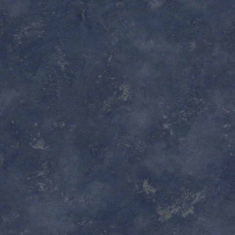 Sample Textured Faux Metallic Concrete Wallpaper in Navy Blue by Walls Republic