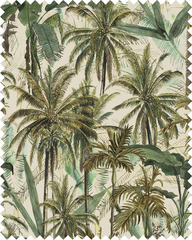 The Jungle Linen Fabric in Taupe by Mind the Gap