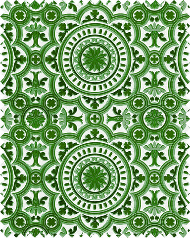 The Manor Linen Fabric in Green by Mind the Gap