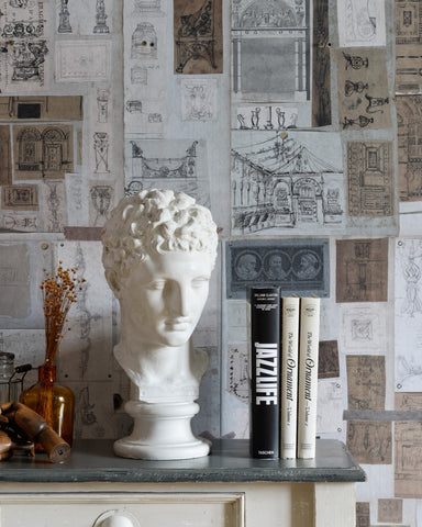The Sketch Book Wallpaper in Brown and Grey from the Wallpaper Compendium Collection by Mind the Gap