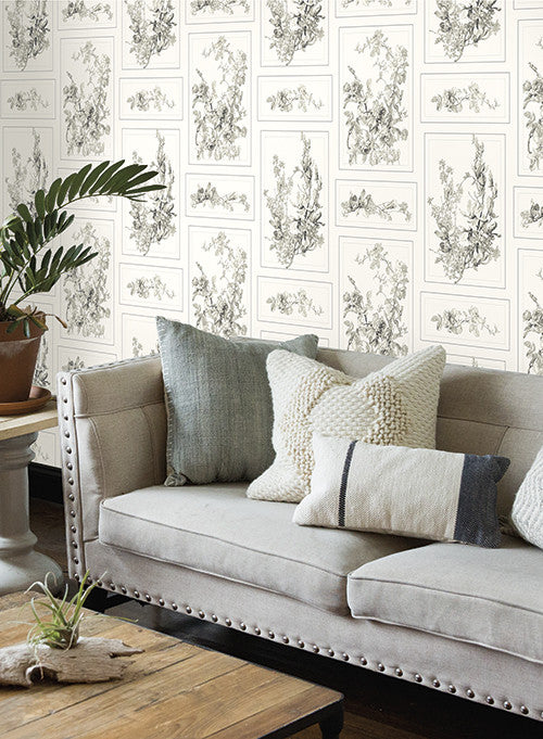 The Magnolia Wallpaper In Neutrals And Cream From The