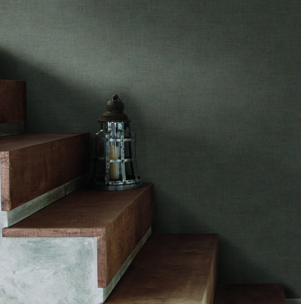 The Printery Wallpaper in Grays and Blacks from Industrial Interiors II by Ronald Redding for York Wallcoverings