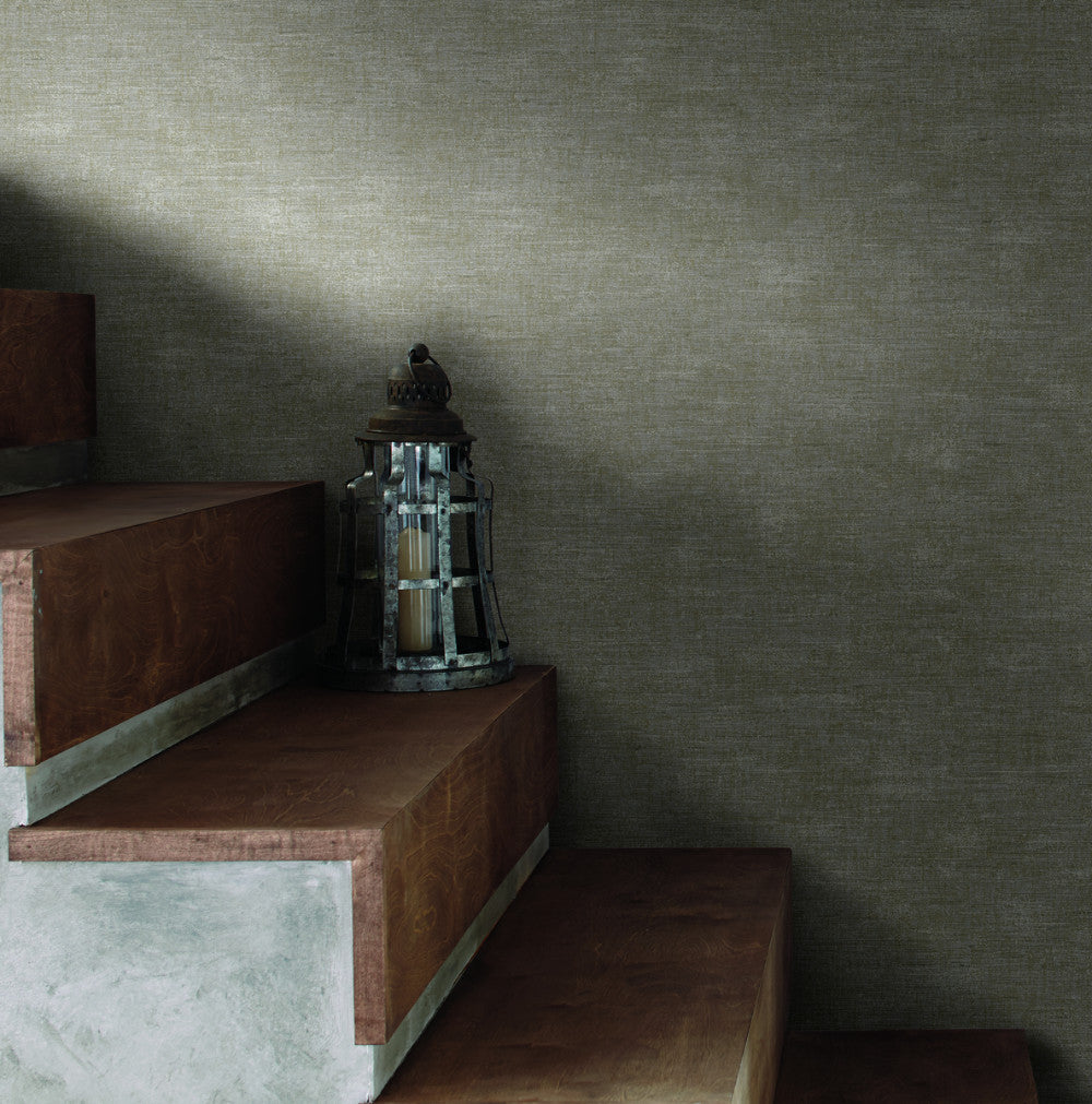 The Printery Wallpaper in Off-Whites and Beiges from Industrial Interiors II by Ronald Redding for York Wallcoverings