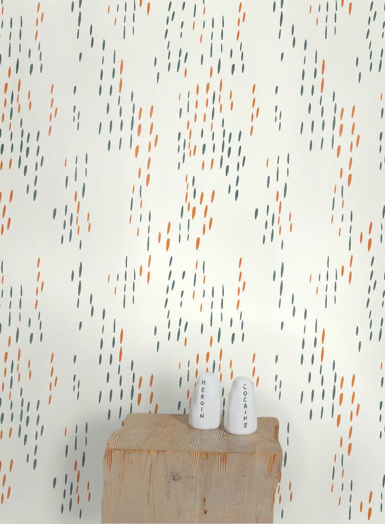 The Sou'wester Wallpaper in Copper and Patina design by Juju