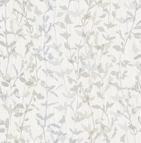 Thea Floral Trail Wallpaper in Grey from the Scott Living Collection by Brewster Home Fashions