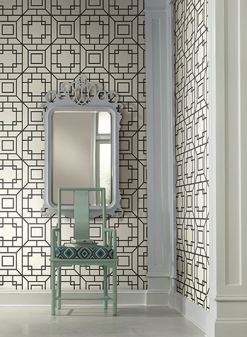 Theorem Geometric Wallpaper In Black And White By Ashford