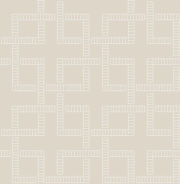 Theory Beige Geometric Wallpaper from the Symetrie Collection by Brewster Home Fashions