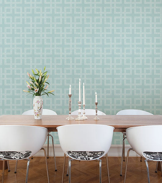 Theory Geometric Wallpaper from the Symetrie Collection by Brewster Home Fashions