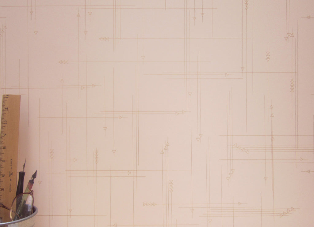 Thesis Wallpaper in Blush design by Cavern Home