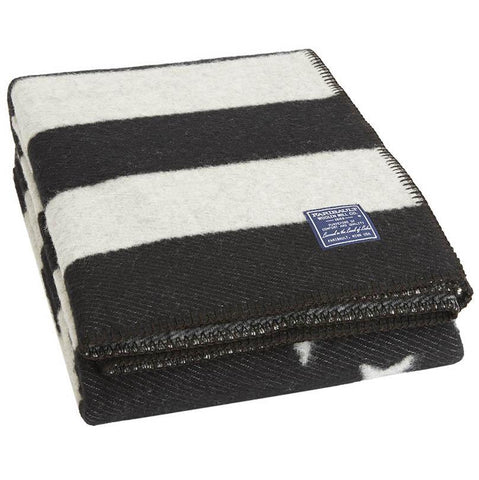 American Flag Black/Heather Gray Wool Throw