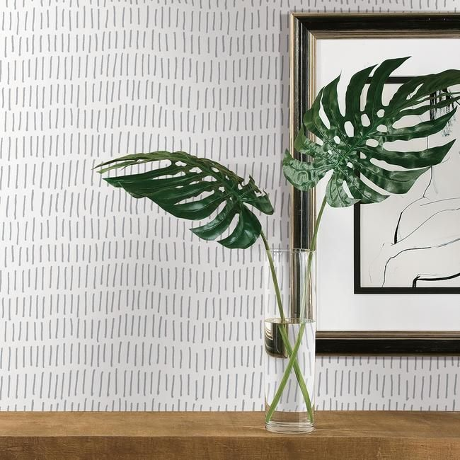 Tick Mark Peel & Stick Wallpaper in Grey by RoomMates for York Wallcoverings