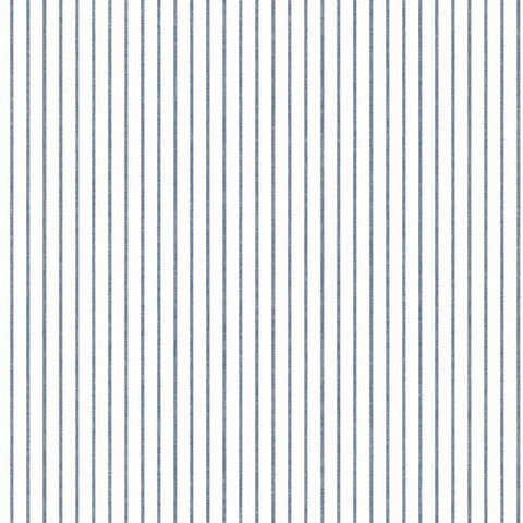 Ticking Stripe Wallpaper in Navy from the A Perfect World Collection by York Wallcoverings