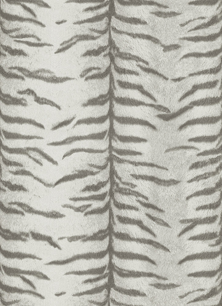 Sample Tiger Pattern Wallpaper in Grey design by BD Wall