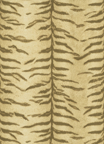 Tiger Pattern Wallpaper in Neutrals design by BD Wall
