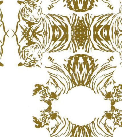 Tigerlace Wallpaper in Gold design by Cavern Home