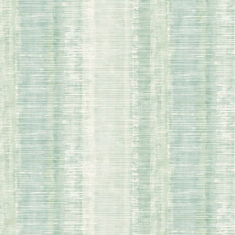 Tikki Natural Ombre Wallpaper in Washed Jade and Aloe from the Boho Rhapsody Collection by Seabrook Wallcoverings