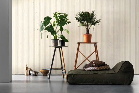 Timber Strips Wallpaper in Scrapwood on Scrapwood by Piet Hein Eek for NLXL Wallpaper