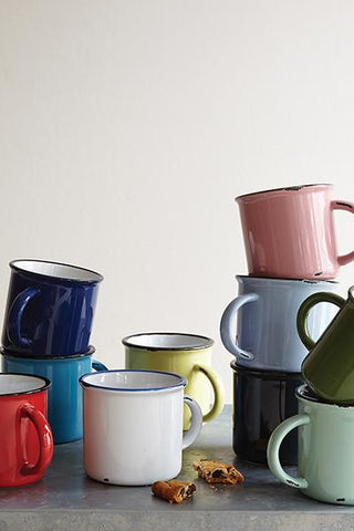 Set of 4 Tinware Mugs in Various Colors design by Canvas