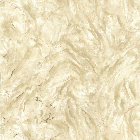 Titania Marble Texture Wallpaper in Gold from the Polished Collection by Brewster Home Fashions