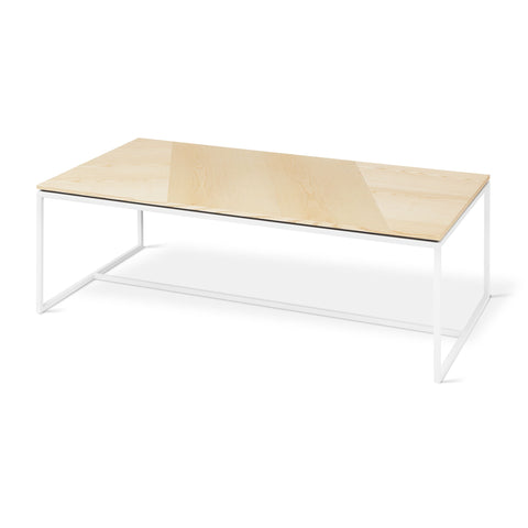 Tobias Rectangle Coffee Table in Blonde Ash & White by Gus Modern by Gus Modern