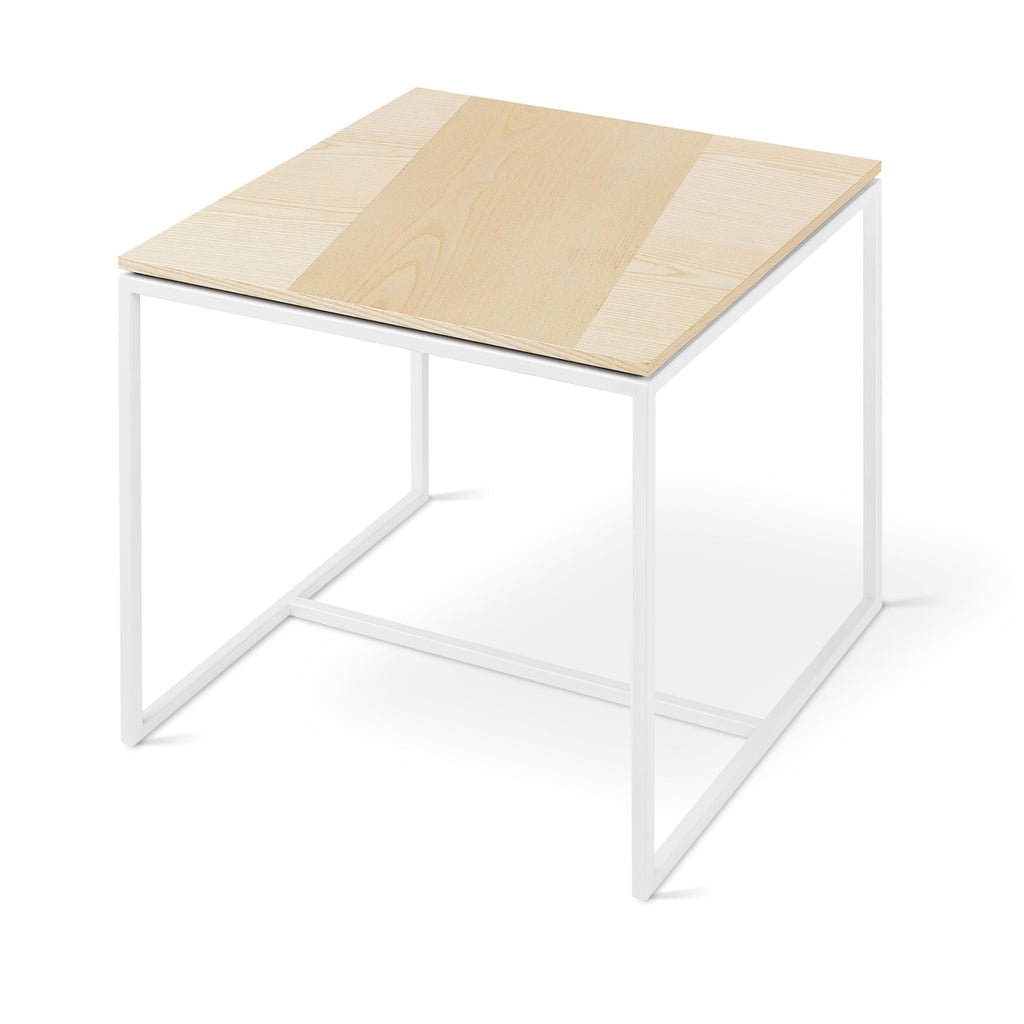 Tobias End Table in Blonde Ash & White by Gus Modern by Gus Modern