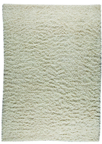 Tokyo Collection Hand Knotted Shaggy Wool and Linen Area Rug in White design by Mat the Basics