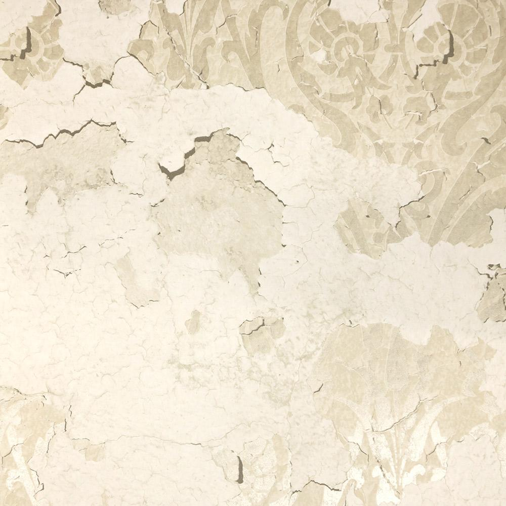 Torn Floral Wallpaper in Grey and Cream from the Precious Elements Collection by Burke Decor