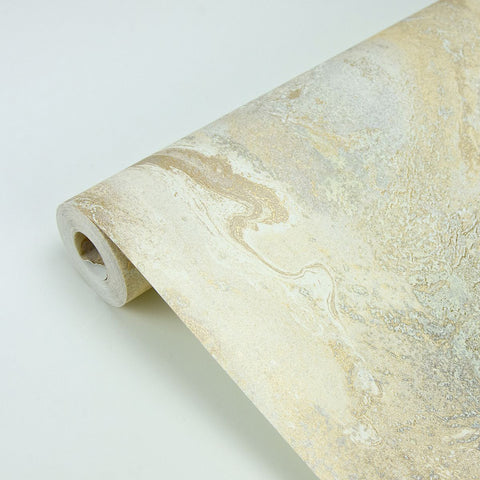 Tory Texture Wallpaper in Gold from the Polished Collection by Brewster Home Fashions