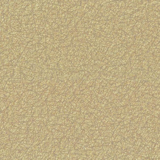 Sample Tossed Fibers Wallpaper in Gold and Grey design by York Wallcoverings