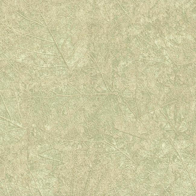 Sample Tossed Leaves Wallpaper in Pale Green and Neutrals design by York Wallcoverings