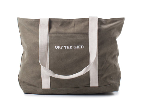 Off the Grid Tote Bag design by Izola