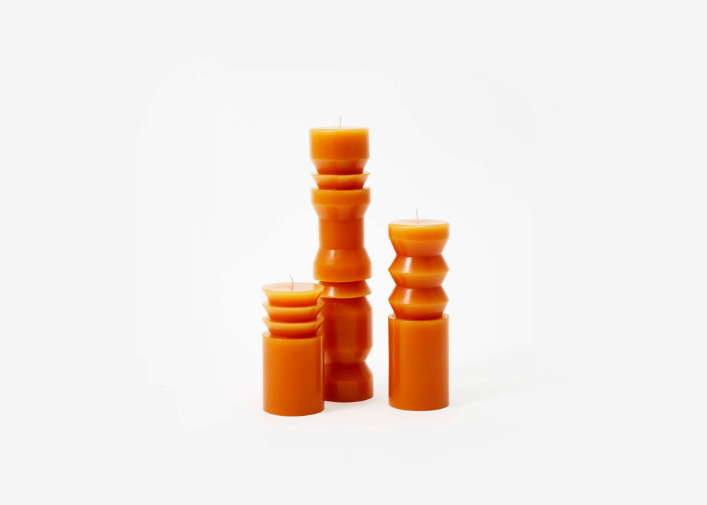 Terracotta Totem Candles design by Areaware