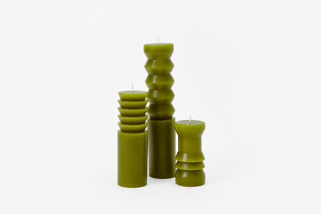 Moss Totem Candles design by Areaware