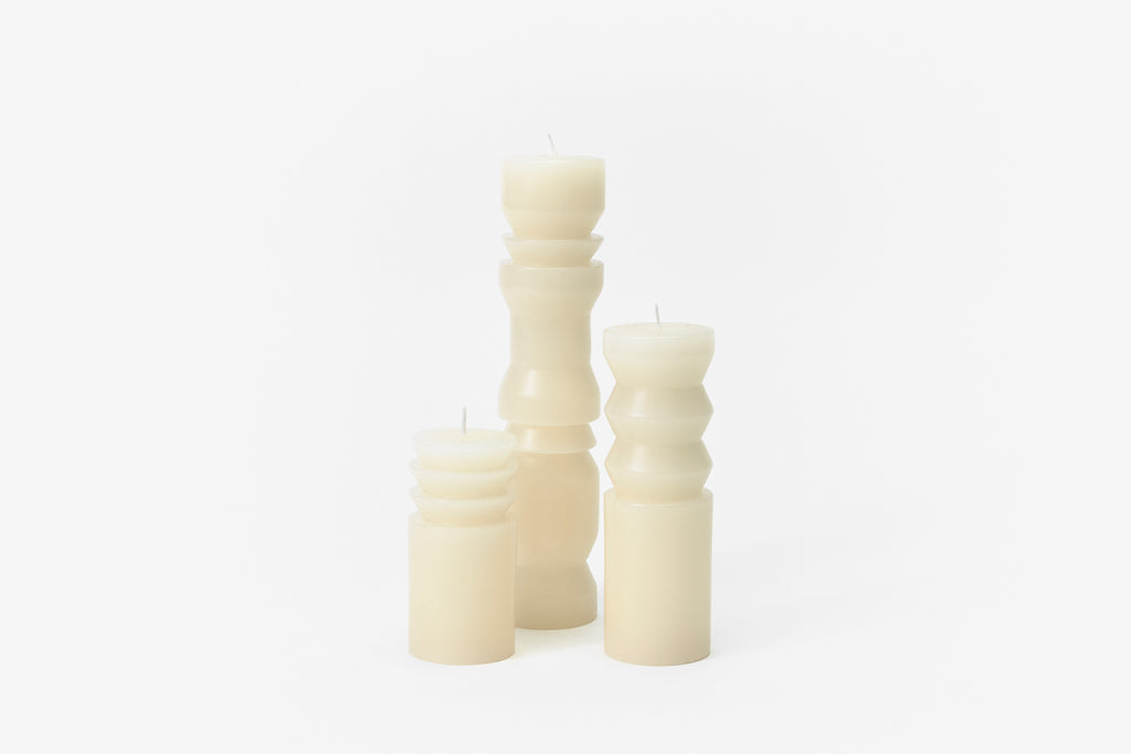 White Totem Candles design by Areaware