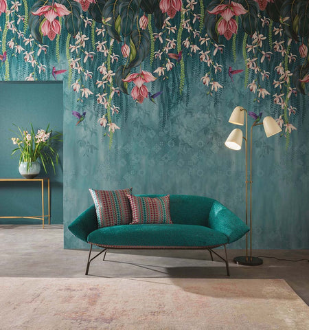 Trailing Orchid Wall Mural from the Folium Collection by Osborne & Little