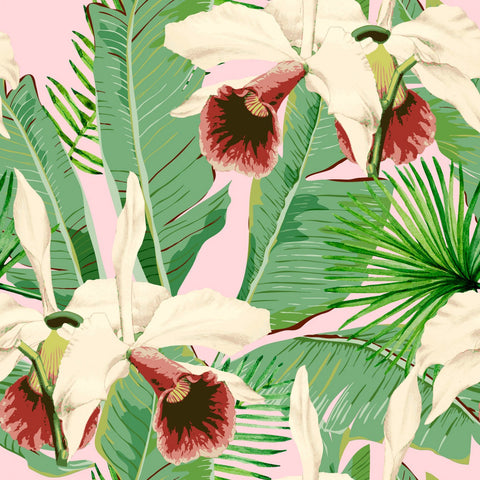 Treasure Island Wallpaper in Pink and Green from the Palm Springs Collection by Mind the Gap