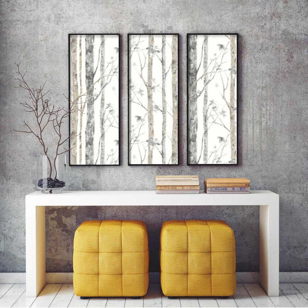 Trees Peel Stick Wallpaper In White And Brown By Roommates For York Burke Decor